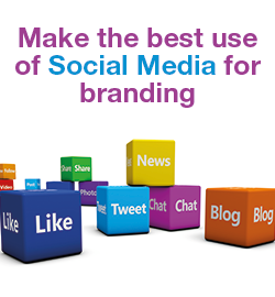 get your brand recognized by promoting it on social media